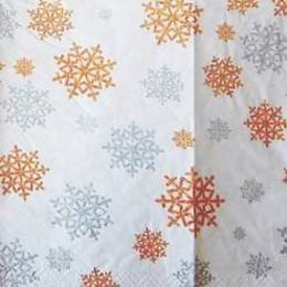 24081. Снежинки на белом. 5 шт., 10 руб/шт