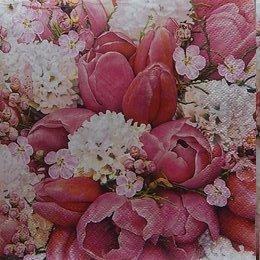 24082. Тюльпаны и гортензия. 10 шт., 8 руб/шт