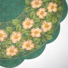 2565. Цветочный бордюр на зеленом. 5 шт., 10 руб/шт