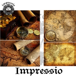 26044. Рисовая декупажная карта  Impressio,  25  г/м2.