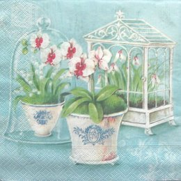 3036. Орхидеи на бирюзе. 10 шт., 14 руб/шт