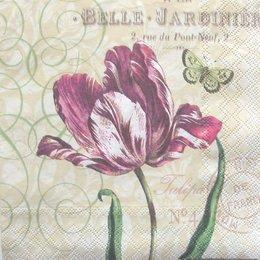 3037. Бордовый тюльпан, 10 шт., 17 руб/шт