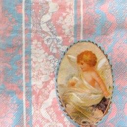 3621. Ангелы на холодном розовом. 5 шт., 10 руб/шт