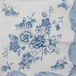 3767. Синие цветы., 10 шт. 14 руб/шт