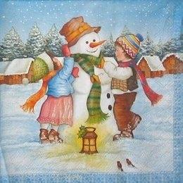 4241.Снеговик и дети. 5 шт., 13 руб/шт