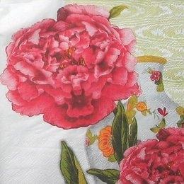 4358. Красный цветок и ваза. 5 шт., 16 руб/шт