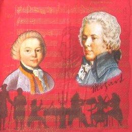 4465. Моцарт на красном. 5 шт., 16 руб/шт