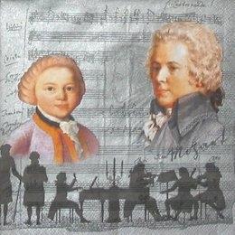 4466. Моцарт на сером