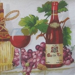 4476. Виноградный натюрморт. Двухслойная