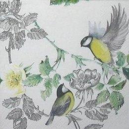4543. Птицы на ветке. Мона Свард.  5 шт., 23 руб/шт
