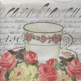 4861. Чашка в розах. 5 штук., 23 руб/шт