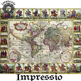 6007. Декупажная карта Impressio, плотность 45 г/м2
