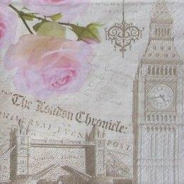 8022. Роза и Лондон. 5 шт., 18 руб/шт