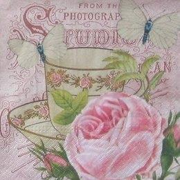 12038. Расписная чаша и роза. 5 шт, 13 руб/шт