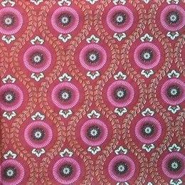 8108. Цветочный орнамент на красном. 5 шт., 10 руб/шт