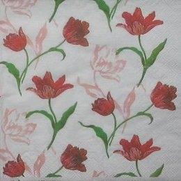 8113. Маленькие тюльпаны на белом.