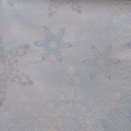 8119. Снежинки на голубом. 5 штук., 10 руб/шт