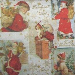 8128. Новогодний коллаж с Дедами Морозами