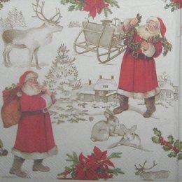 8139. Дед Морозы на белом. 5 шт., 20 руб/шт