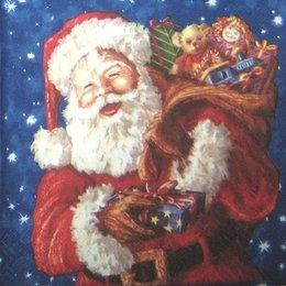 8149. Дед Мороз на темно-синем. 5 шт., 13 руб/шт