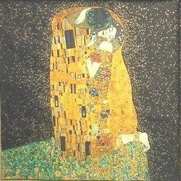 8175. Климт. Поцелуй на черном