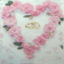 8240. Обручальные кольца в сердце из роз. 20 шт., 7 руб/шт