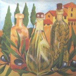 8255. Оливковое масло с веткой оливы