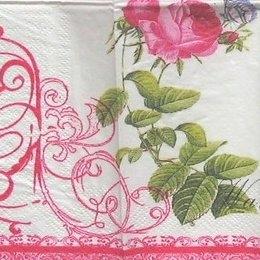 8267. Розовая роза с бабочкой. 5 шт., 12 руб/шт