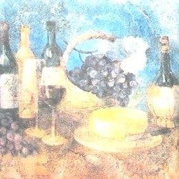8281. Красное вино с сыром.