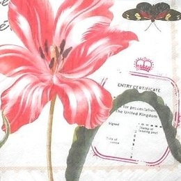 8311. Цветы, птицы и бабочки.