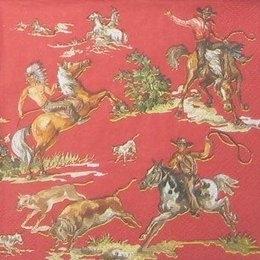 8638. Ковбои на лошадях.