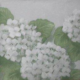 8707. Белая гортензия. 10 шт., 9 руб/шт