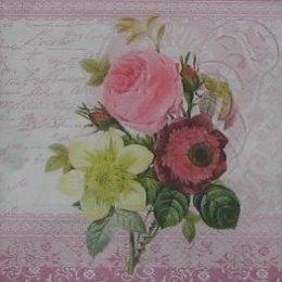 8800. Три цветка на письменах.  5 шт., 17 руб/шт