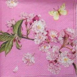 8829. Цветущая ветвь на розовом. 10 шт., 7 руб/шт