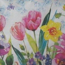 8866. Весенние цветы акварелью