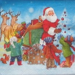 8944. Дед Мороз раздает подарки. 20 шт., 5,5 руб/шт