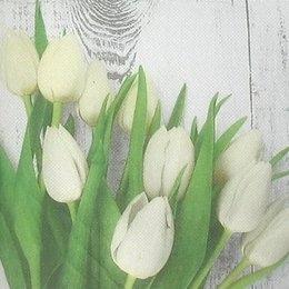 8987. Белые тюльпаны. Двухслойная