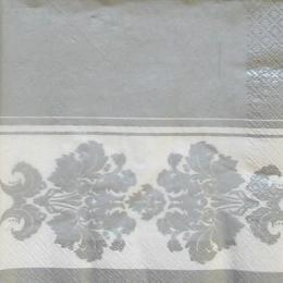 9045. Серебряные вензеля на белом бордюре