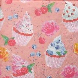 9088. Пирожные на розовом