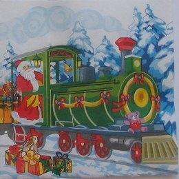 9139. Дед Мороз на паровозе. Двухслойная