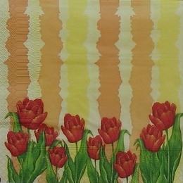 9161. Тюльпаны на желтом и оранжевом.