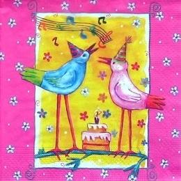 9168. Птички. День рождения.