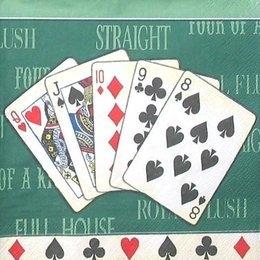 9248. Покер на зелёном фоне