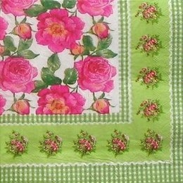 9337. Весенние розы с бордюром.