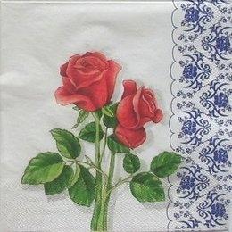 9338. Алые розы в кружевах.