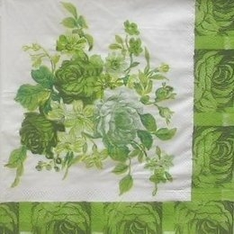 9343. Букет из роз зеленый.