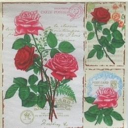 9387. Розы на почтовых марках. Двухслойная. 10 шт., 6 руб/шт
