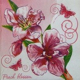 9481. Цветок персика. Двухслойная
