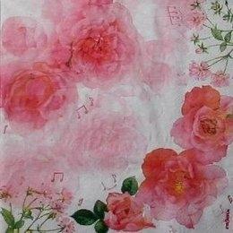 9528. Розовые розы