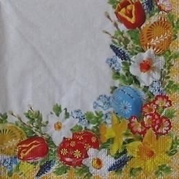 9546. Пасхальные яйца в цветах
